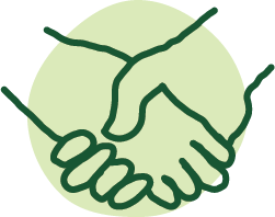 A hand drawn illustration of a handshake.