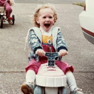 Alyson, as a kid.