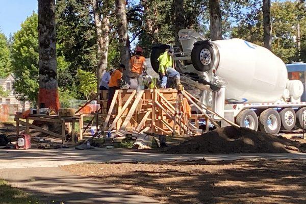 Anna Abby's Yard construction