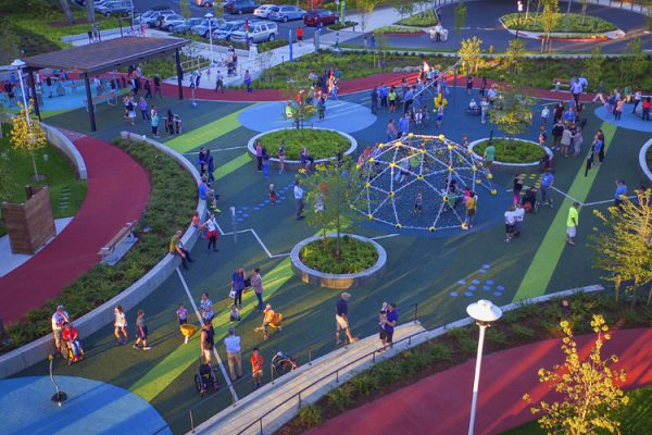 Let's all play park aerial