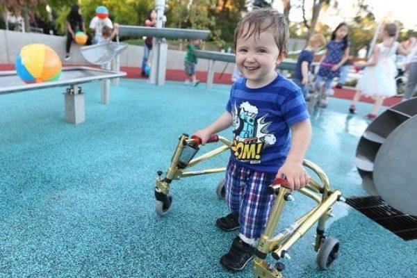 Salem hospital kid smiling walker